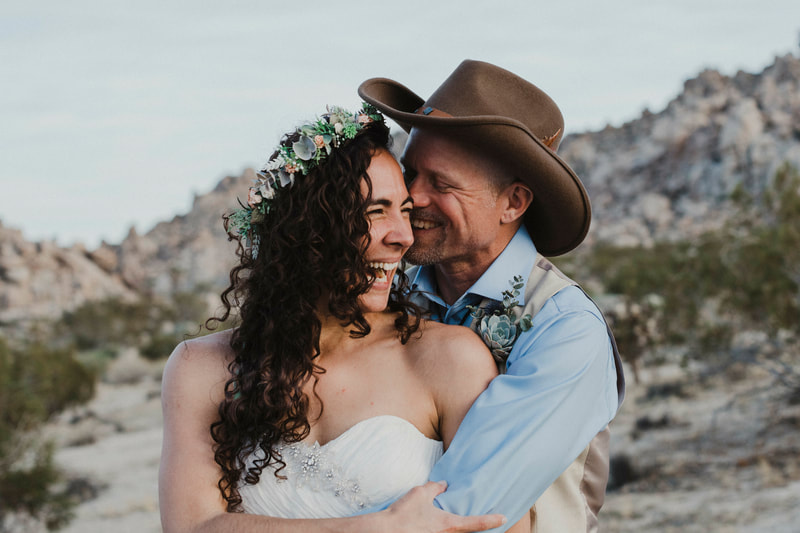 Destination Desert Wedding Ceremony Joshua Tree National Park
