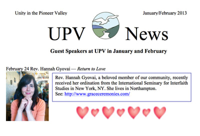 Unity in the Pioneer Valley talk with Grace Ceremonies | Rev. Hannah Grace, Ordained Interfaith Minister, Wedding Officiant, Celebrant, Reiki Master, Certified Psychosynthesis Practitioner